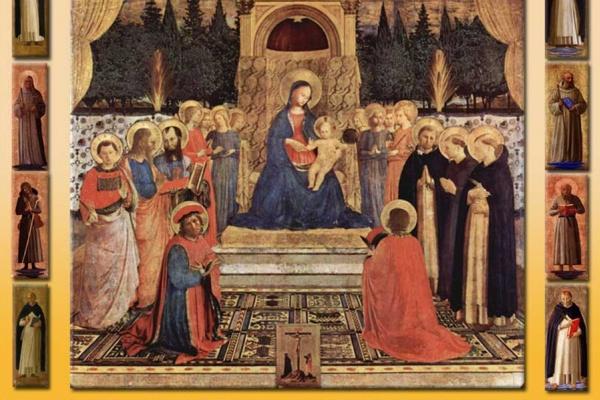 Фра Беато Анджелико. Алтарь святых Косьмы и Дамиана монастыря Сан Марко во Флоренции