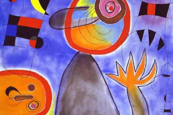 Хоан Миро. Лестница через голубое небо к огненному колесу