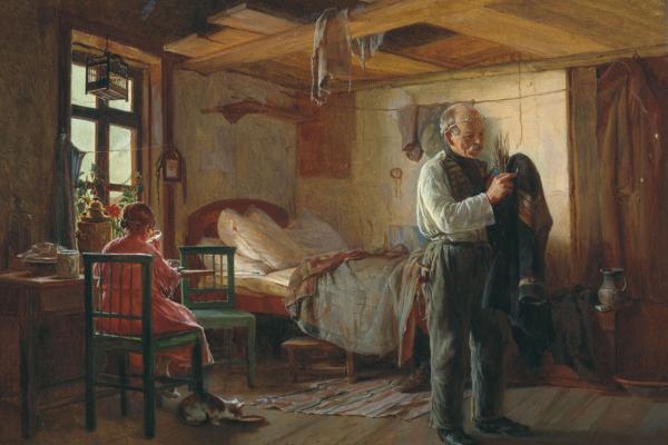 Kirill (Karl) Viketyevich Lemokh Russia 1841-1910. Swiss morning. State Tretyakov Gallery, Moscow