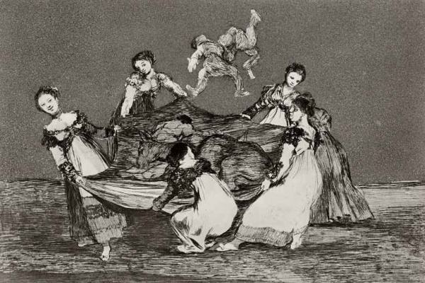 "Francisco Goya. A series of ""Disparates"" [Nonsense], sheet 01: Female stupidity"