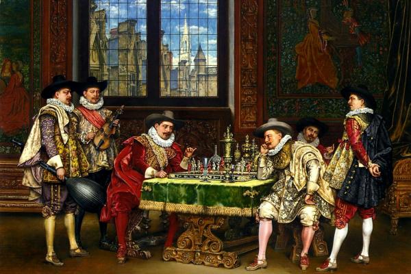 Адольф Александр Лесрель. Игроки в шахматы