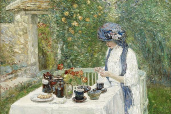 Чайльд Гассам. Чай во французский садике