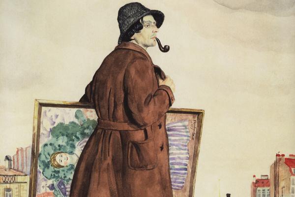 Борис Михайлович Кустодиев. Портрет художника И.И. Бродского