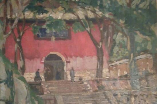 Victor Stepanovich Podgursky. The Isle of Putu, the monastery. 1922