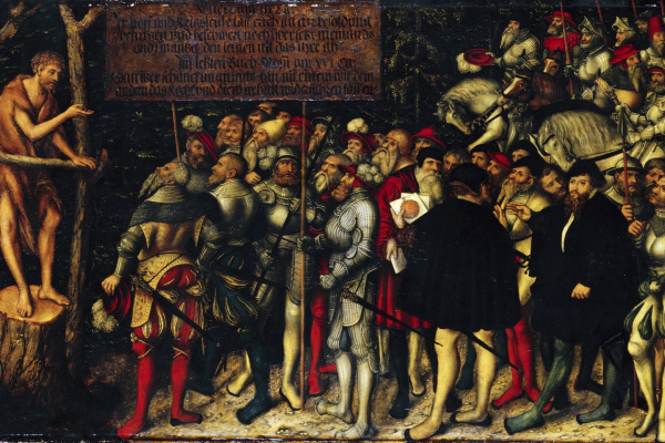 Lucas Cranach the Younger. Проповедь святого Иоанна Крестителя. 1543
