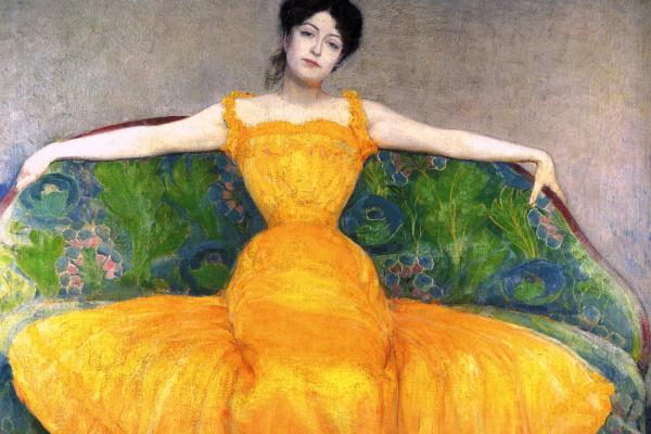 Макс  Курцвайль. Женщина в желтом платье