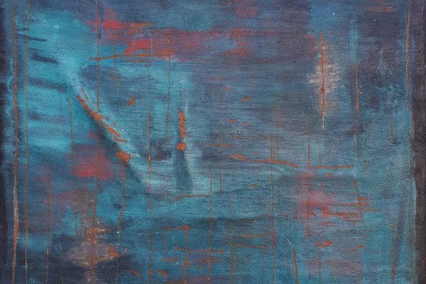 Elena Sergeevna Tachkina. Ancient blue wall