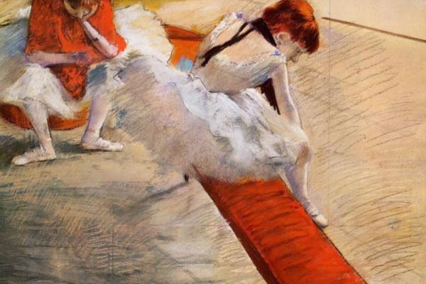 Edgar Degas. The rest of the dancers