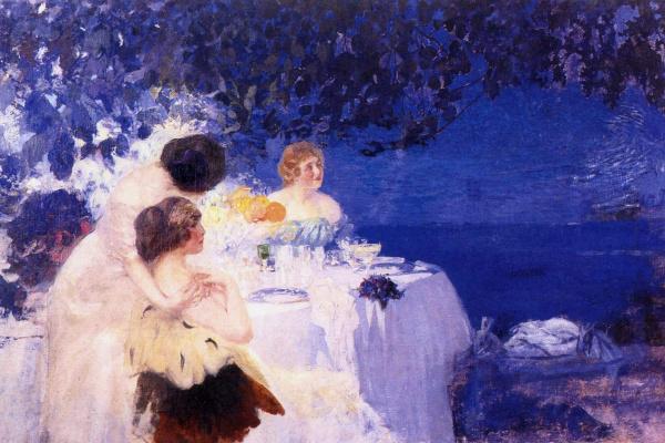 Pavel Dmitrievich Shmarov Russia - France 18741950. On the balcony. 1910s