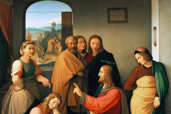Johann Friedrich Overbeck. Christ in the house of Martha and Mary