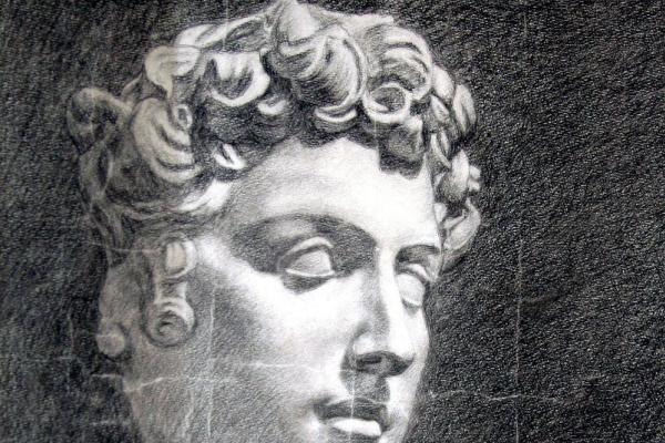 Владимир Алексеевич Мурзанов. Аполлон.1890. Академический рисунок