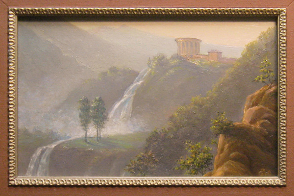 "Eugene Gennadievich Laktionov. ""Temple of Vesta in the vicinity of Tivoli"""
