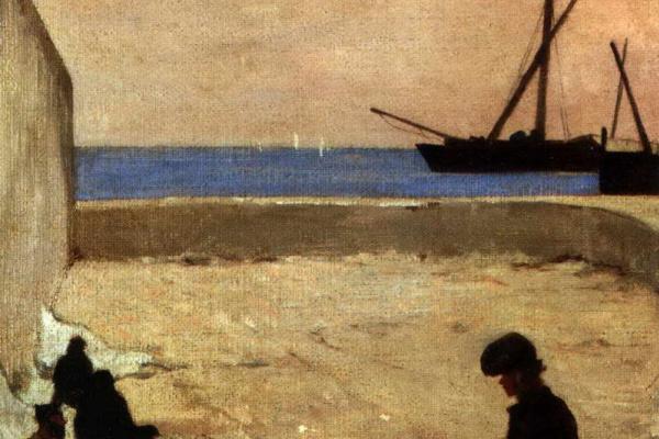 Giovanni Fattori. Sail Repair