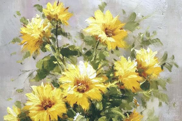 Andrzej Wlodarczyk. Bouquet of yellow chrysanthemums