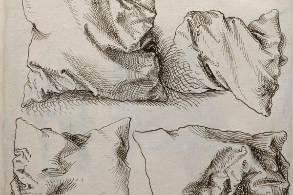 """Альбрехт Дюрер. Шесть этюдов подушек (обратная сторона """"Автопортрета с этюдами руки и подушки"""")"""