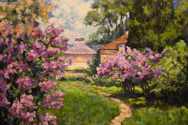 Мила Канеева. Цветущий сад (свободная копия)