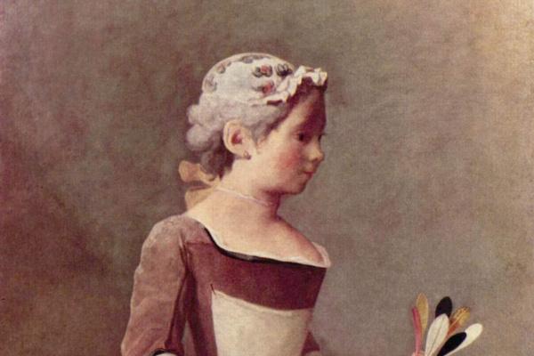 Жан Батист Симеон Шарден. Девочка с воланом