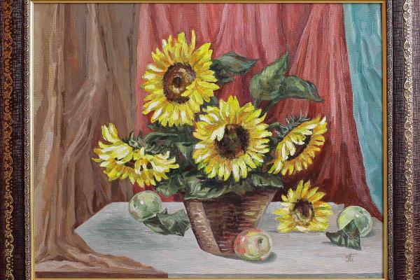 Margarita Vadimovna Pichugina. Still Life with Sunflowers