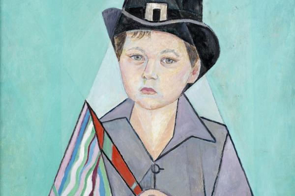Мария Брониславовна (Воробьева-Стебельская) Маревна. Портрет юного Давида (внук художницы). 1955
