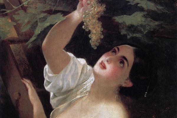 Карл Павлович Брюллов. Итальянский полдень (Итальянка, снимающая виноград)