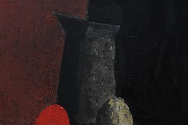Роман Александрович Кузьмин. Натюрморт с красный яйцом