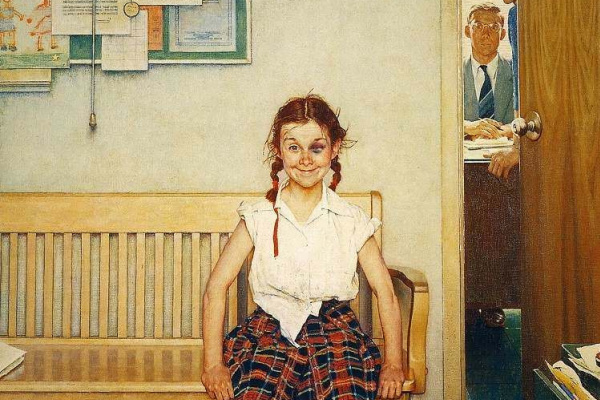 Норман Роквелл. Девочка с синяком под глазом