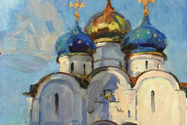 """Boris Anatolevich Studentzov. """"In the Trinity-Sergius Lavra"""""""