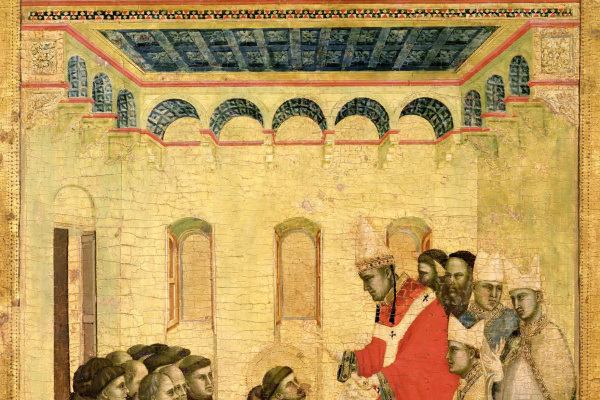Giotto di Bondone. Approval of the Franciscan law