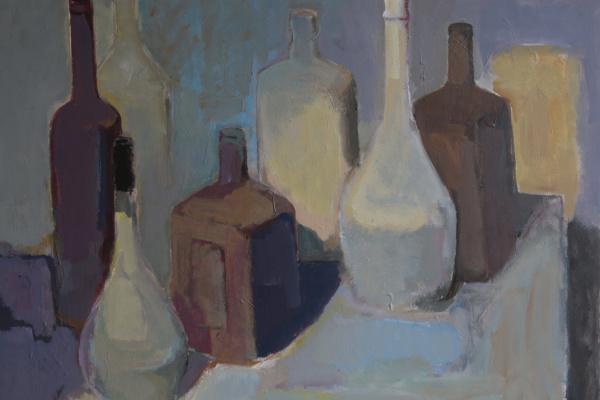 Азат Табиев. Натюрморт с бутылками