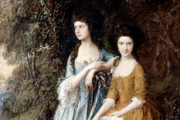 Thomas Gainsborough. Elizabeth and Mary Linley