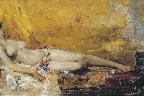 Хоакин Соролья (Соройя). Отдыхающая вакханка