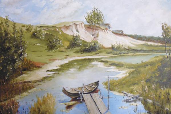 Сергей Николаевич Ходоренко-Затонский. Тихий день на реке