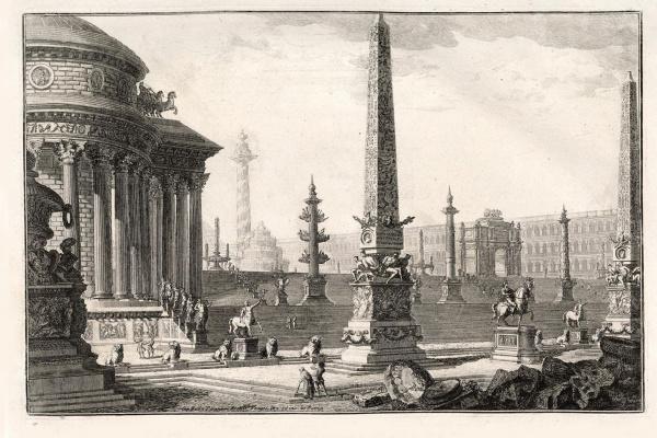Giovanni Battista Piranesi. Obelisks and columns