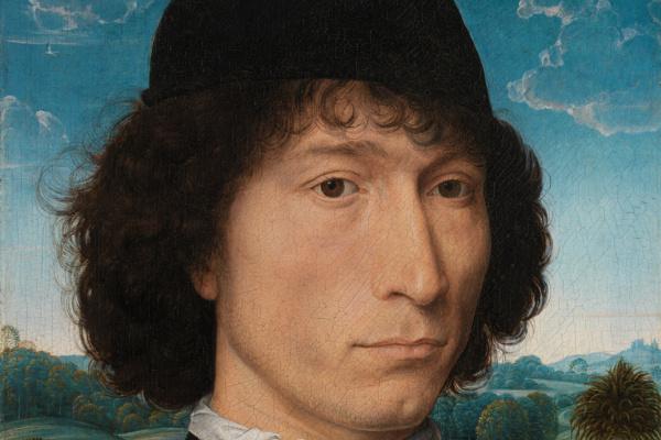 Ганс Мемлинг. Мужчина с римской монетой (Портрет Бернардо Бембо)