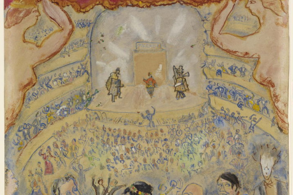 "Michel Georges-Michel. The opening of the ballet ""Parade"" in Paris. (Paul Rosenberg, Laurencin, Sergei Diaghilev, Misia Sert, Erik Satie, Georges-Michel, Picasso, Jean Cocteau)"