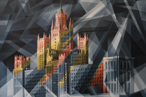 Vasily Vyacheslavovich Krotkov. City elm. Post-kubofuturizm