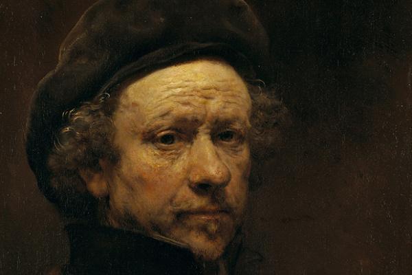 Рембрандт Ван Рейн. Автопортрет в возрасте 51 года