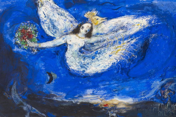 "Marc Chagall. Sketch of curtain for the ballet ""the Firebird"" in new York"