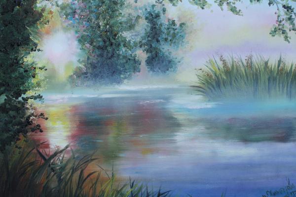 Vera Alexandrovna Kholmogorova. Morning at the lake