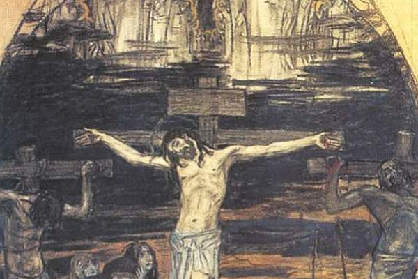 Victor Mikhailovich Vasnetsov. Crucifixion Sketch of mosaic for St. George Church in Gus-Khrustalny