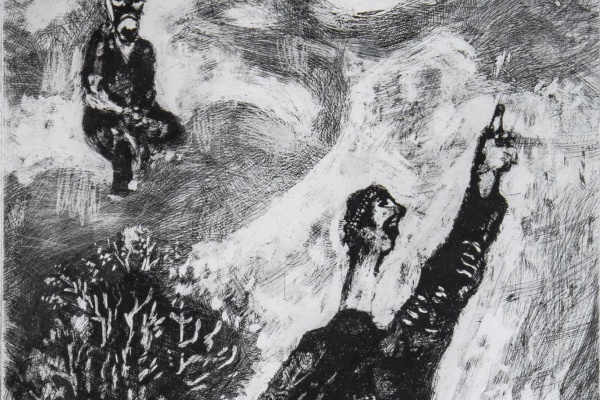 """Marc Chagall. The etching of the fable of La Fontaine """"Quack"""""""