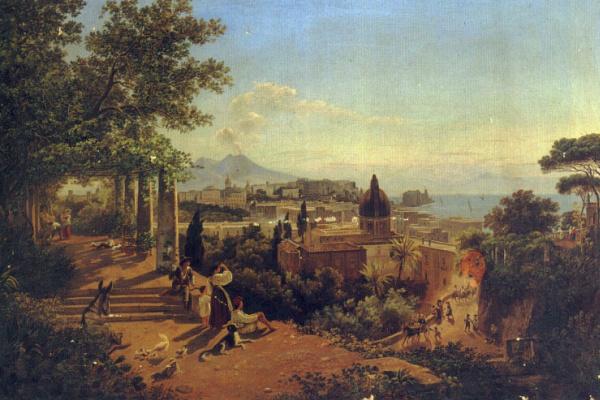 Фридрих Майер. Вид на Неаполитанский залив и Везувий