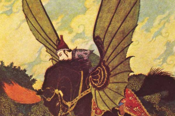 Edmund Dulac. Black wings