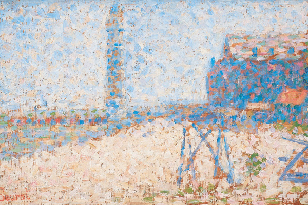 Georges Seurat. Hospital and lighthouse in Honfleur