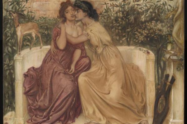 Симеон Соломон. Сафо и Эрина в саду