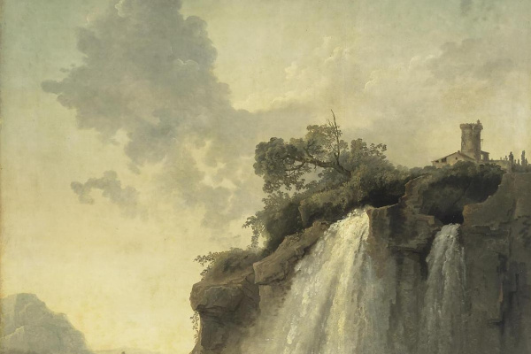 Hubert Robert. Landscape with waterfall