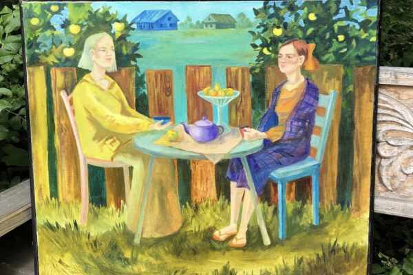 "Helena. ""Tea in the garden"""