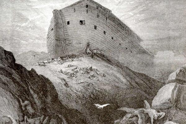 Поль Гюстав Доре. Иллюстрации к Библии: Ной выпускает голубя