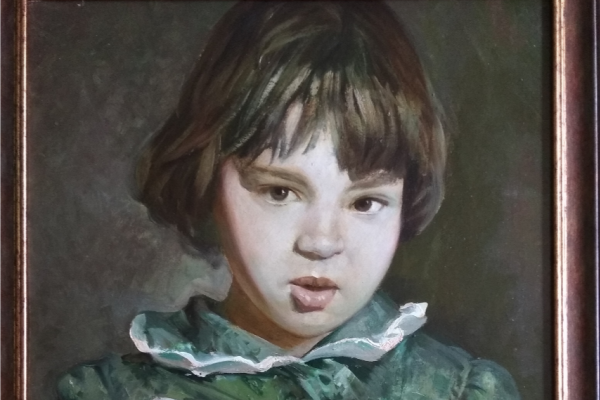 "Alexander Grigorievich Serdyukov. ""Girl with notebooks"""