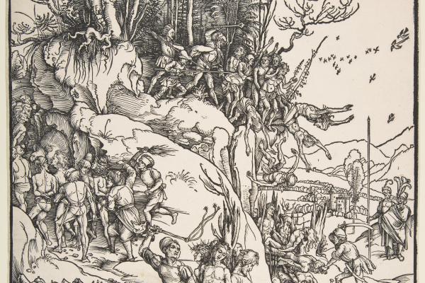 Альбрехт Дюрер. Мученичество десяти тысяч христиан
